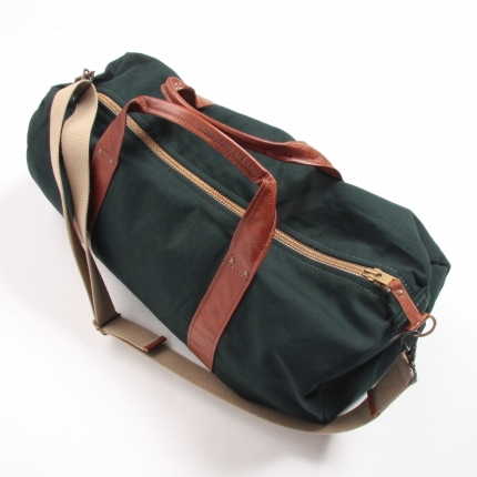 Tannis Hegan Green Canvas Duffle