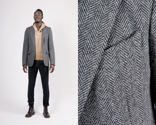 Dries Van Noten Beaton Herringbone Jacket