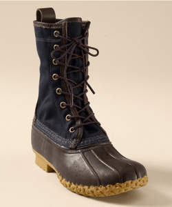 Winter 2010 | L.L. Bean Signature Navy Waxed Canvas Hunting Boot