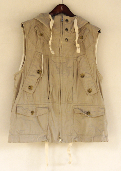 In Stock   Engineered Garments Hooded Field Vest, S/S 2011