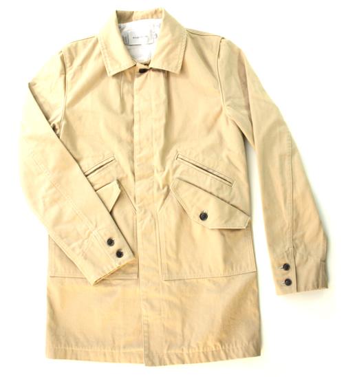 Wings + Horn Cotton Mac Jacket