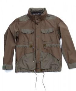 White Mountaineering 2-Tone Field Jacket for S/S 2011 in Beige