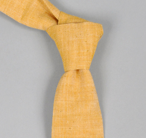 The Hill-Side Selvedge Chambray Turmeric Necktie