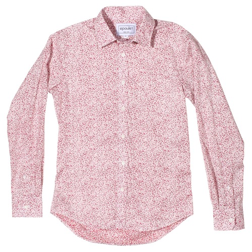 Epaulet Red Floral Shirt