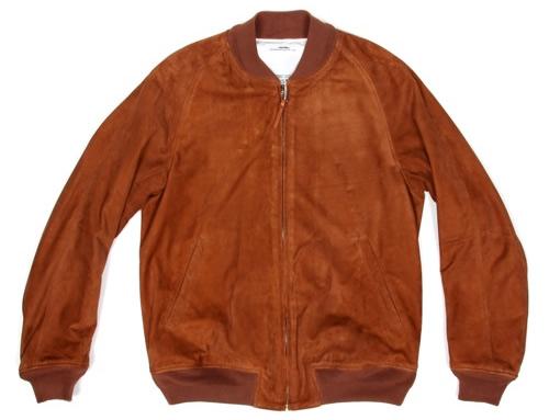 Visvim Varsity Jacket in Goat Suede