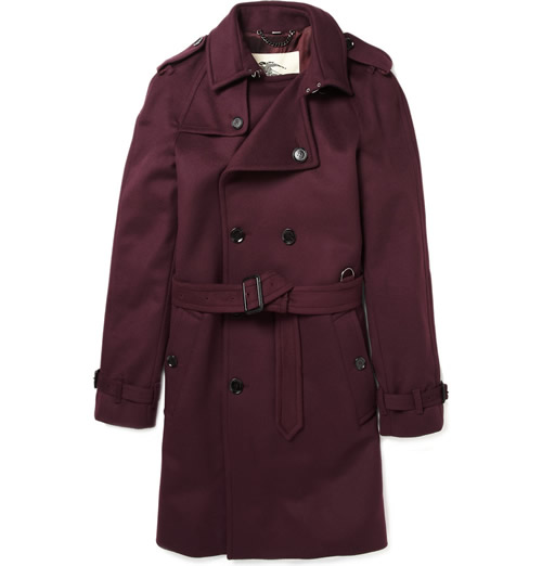 Burberry London Men's Trench Coat in Berry Red for Fall 2011