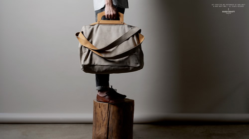 hard graft 'Driftwood' Square1 Holdall