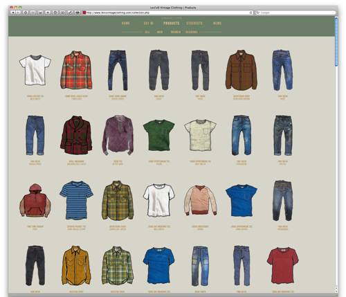Vintage Clothing Website 47