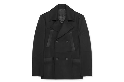 Alexander Wang Shattered Patchwork Double Breasted Pea Coat