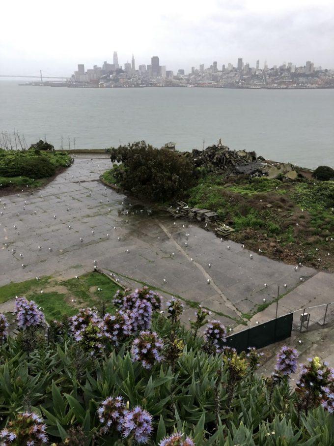 Looking from Alcatraz island back at the San Francisco bay