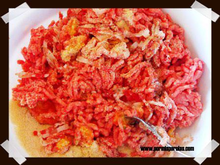Mezclamos la carne