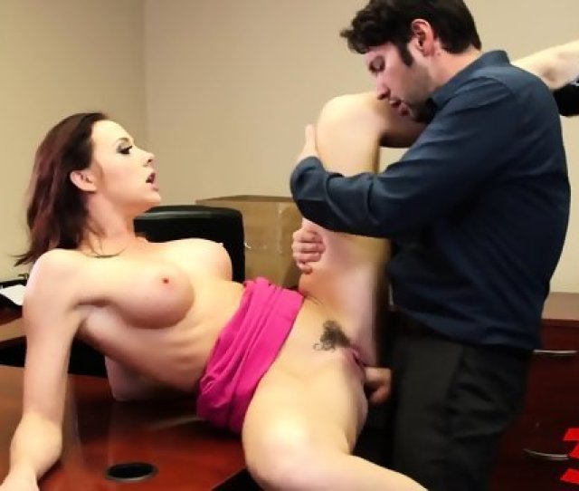 In Office Bitch In Black Lingerie Hard Fuck