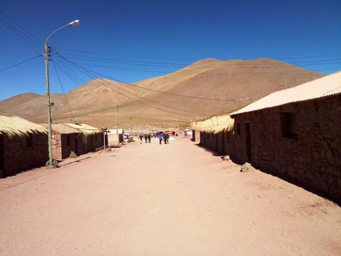 Pueblo de Machuca cerca de San Pedro de Atacama.