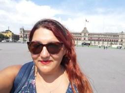 Selfie en el Zócalo de Ciudad de México.