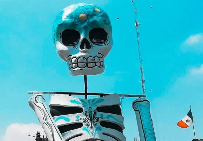 Foto de una calavera en Ciudad de México.
