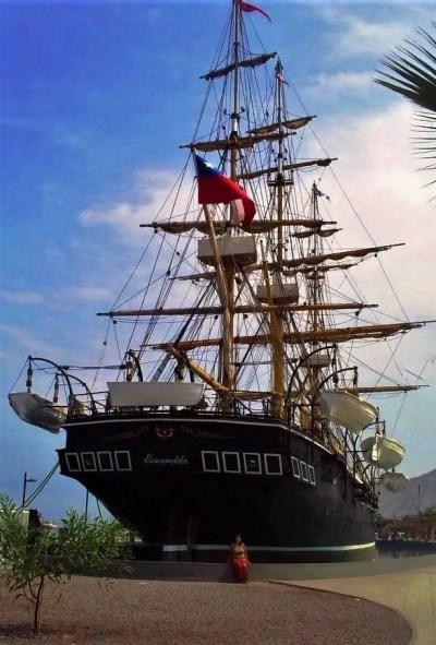 Fotografía en el Museo Corbeta Esmeralda de Iquique, en mi primer viaje.