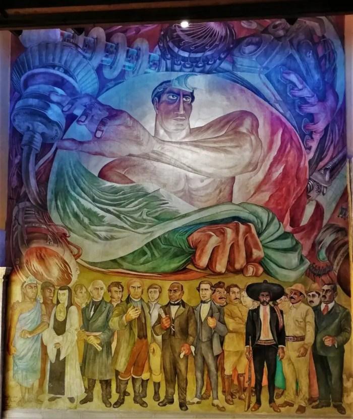 Mural de la Galería de Arte de Ciudad de México.