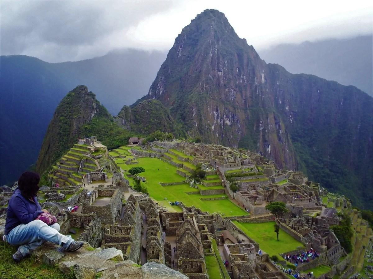 Foto en Machu Picchu desde la Casa del Guardián.
