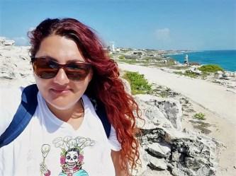 Foto en la Punta Sur de Isla Mujeres.