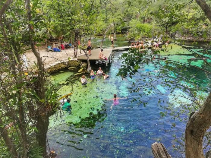 Un cenote barato cerca de Playa del Carmen.