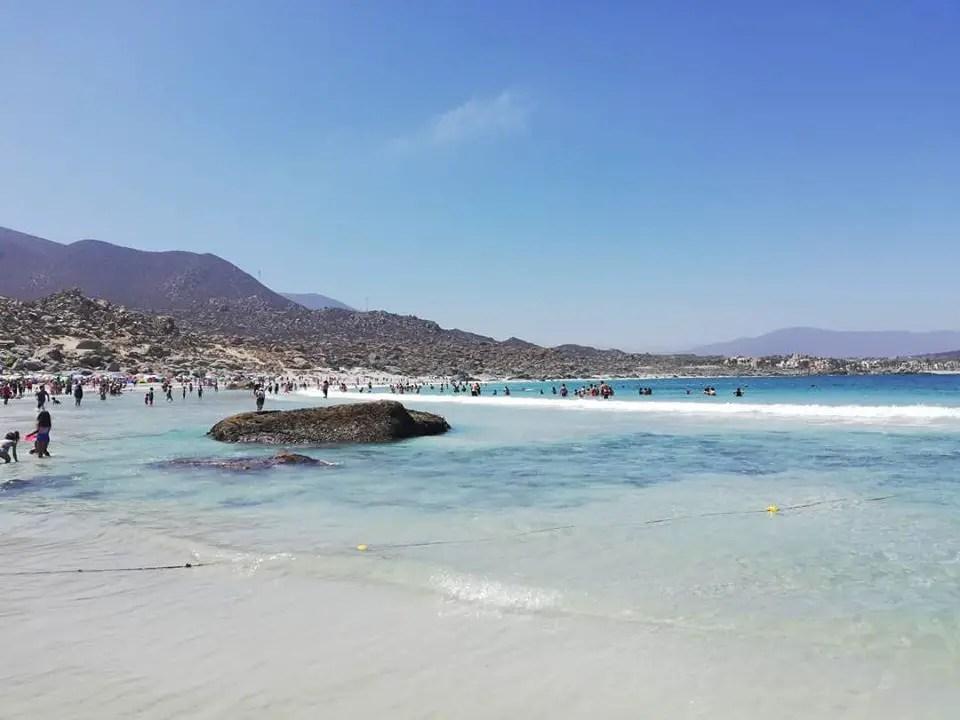 Playa Totoralillo en verano.