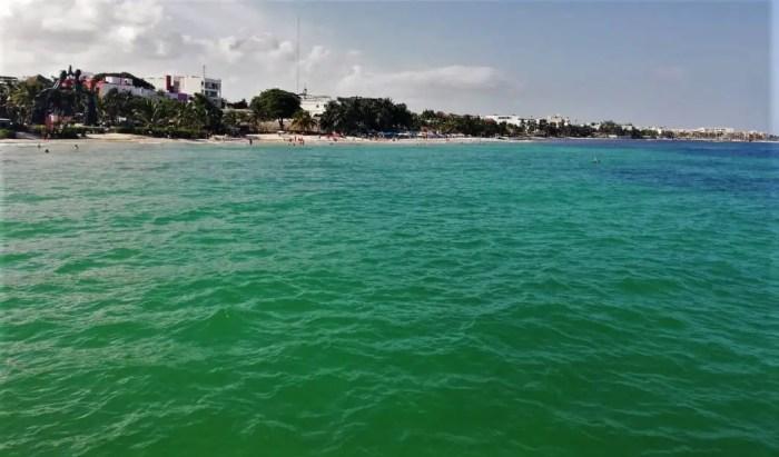 Costa de Playa del Carmen.