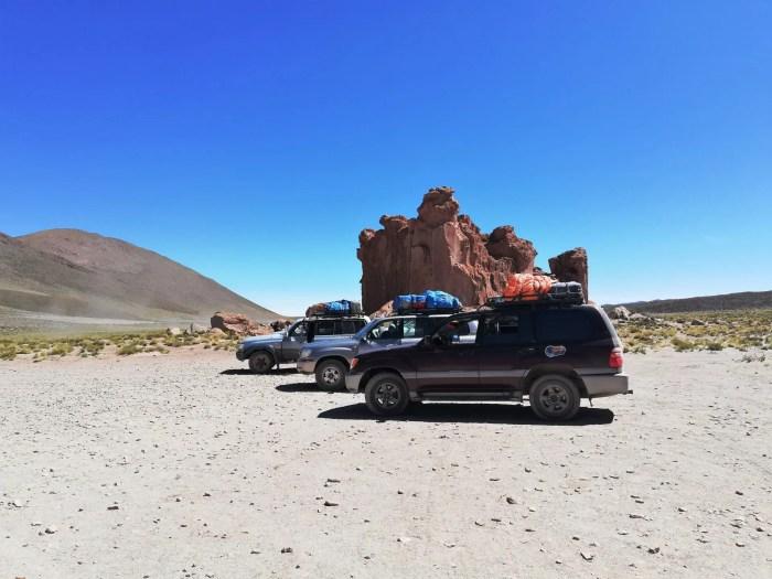 Vehículos 4x4 en los que se realiza el tour por Uyuni.