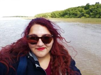 Foto navegando en el Río Tigre.