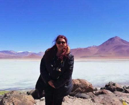 Foto en Laguna Blanca, Bolivia.
