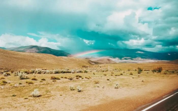Arcoiris en el camino a Humahuaca.