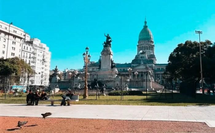 Plaza del Congreso, Buenos Aires.