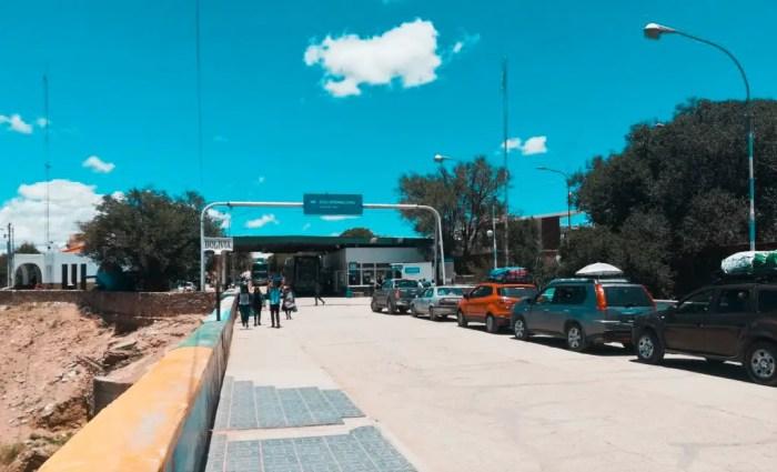 Frontera de Argentina y Bolivia.