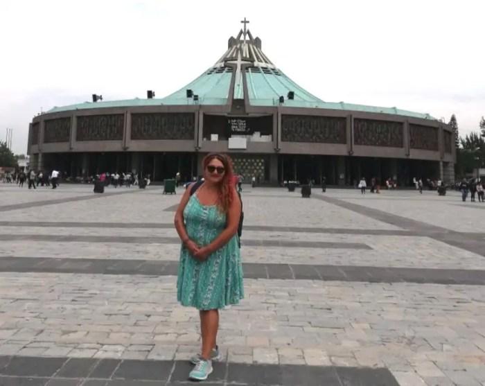 Foto en la Basílica de la Virgen de Guadalupe.