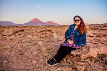 Foto en San Pedro de Atacama.