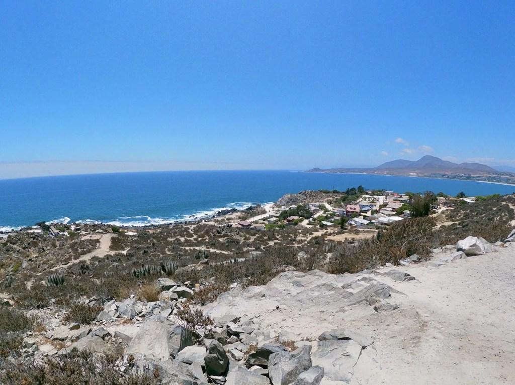 Vistas desde el Mirador cerro la virgen de Tongoy.