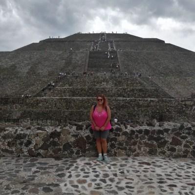 Foto en Teotihuacán, México.