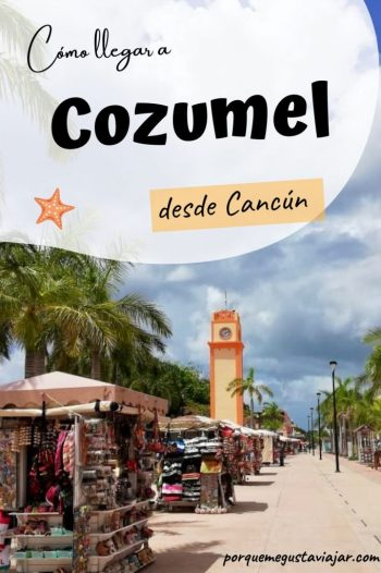 Pin cómo llegar a Cozumel desde Cancún.