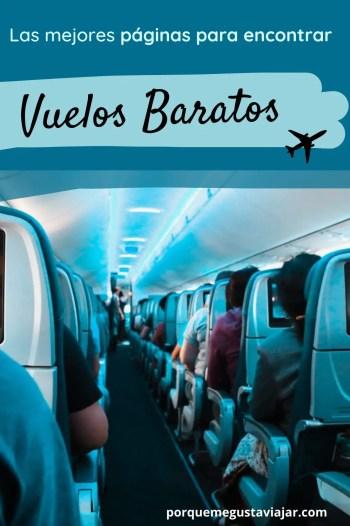 Pin páginas para encontrar vuelos baratos.