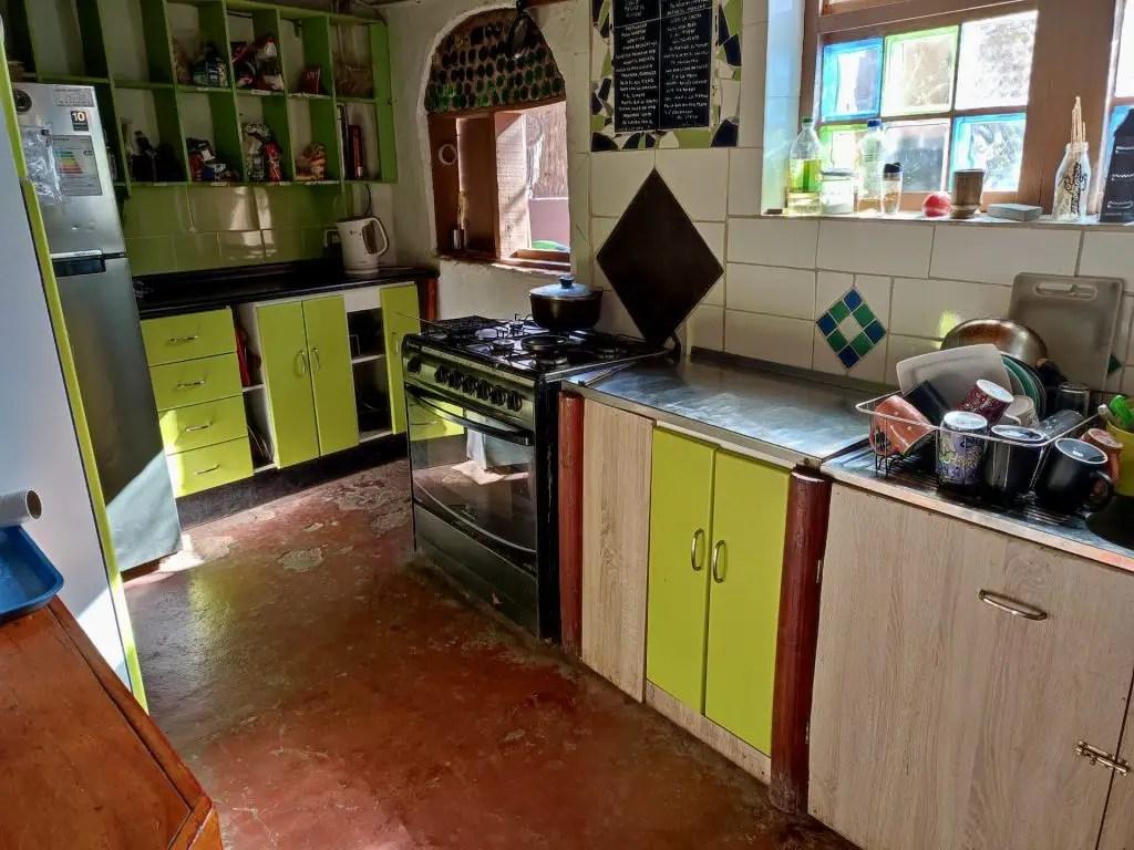 Cocina de Ají Verde.