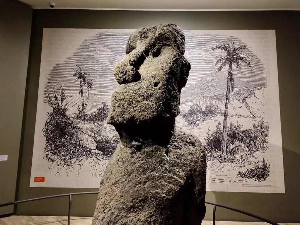 Moai en La Serena