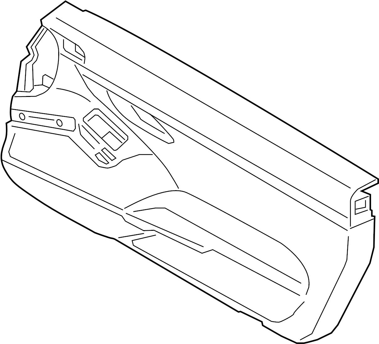 Porsche Boxster Door Interior Trim Panel W O Leather W O