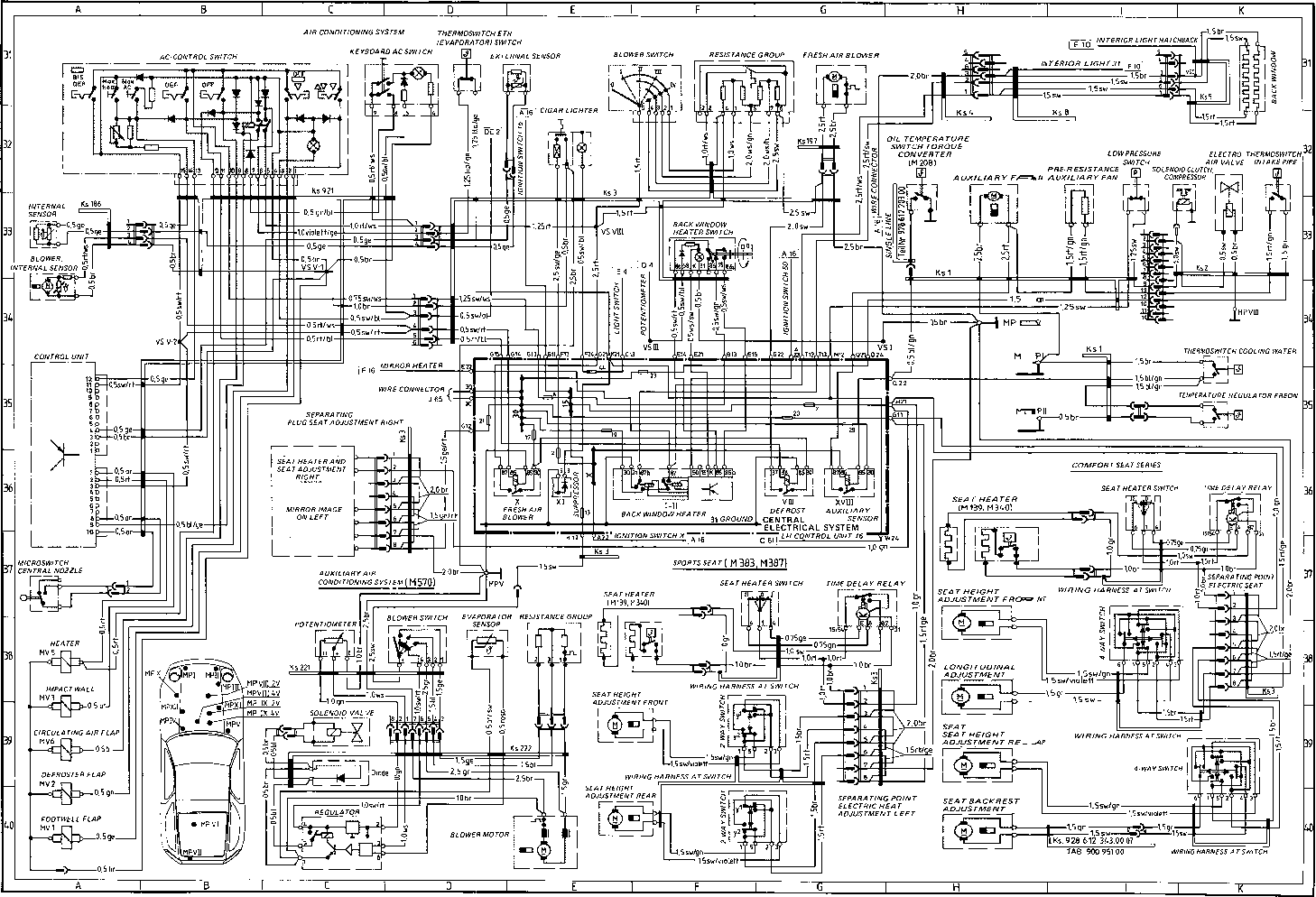 ... 1983 Porsche 928 Wiring Diagram Schematic Diagrams