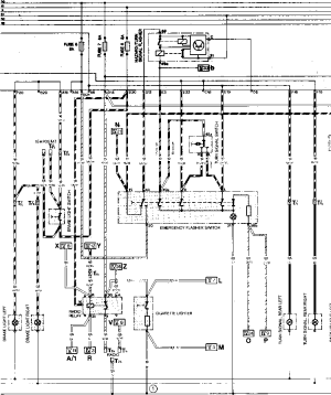 Current Flow Diagram Type 944 USA Model  Porsche 944 Electrics