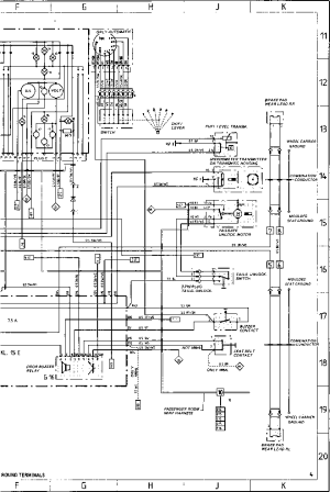 Wiring Diagram Type 944944 turbo 944 S Model 87  Porsche