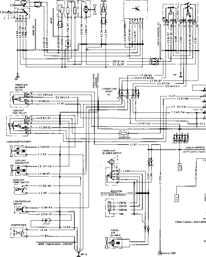 porsche 924 turbo wiring diagram