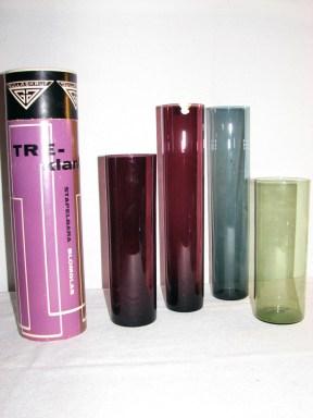 Blomglasset Treklang samt färgvariant av en vas