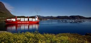Containerfartyg i havsmiljö