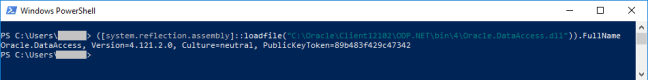 DLL public key token powershell
