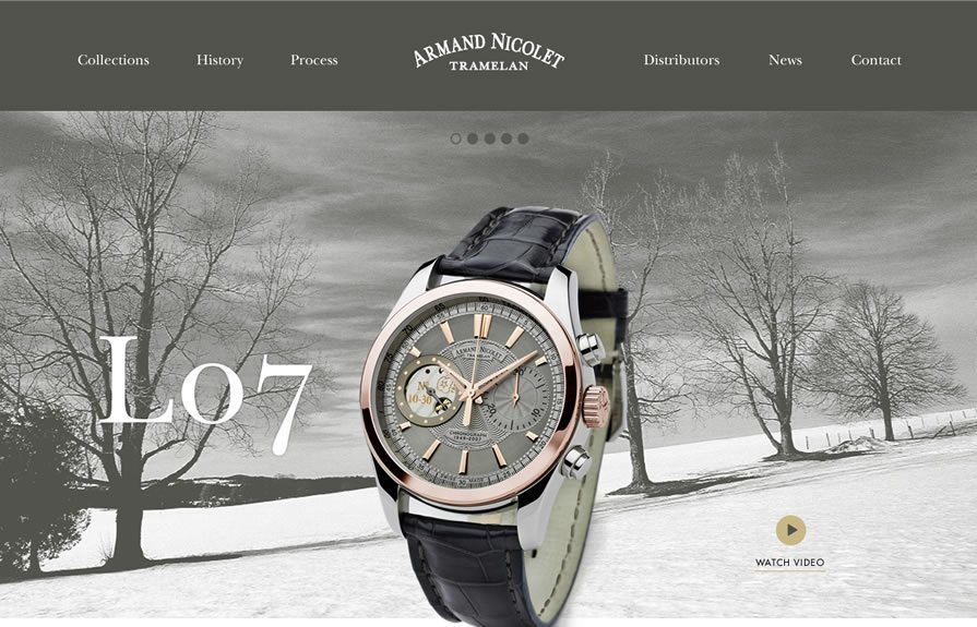 Armand Nicolet Wordpress Design
