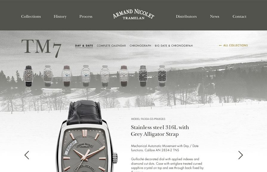 Armand Nicolet Custom B2B Portal